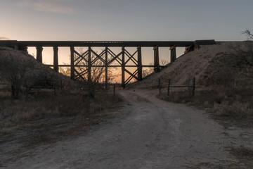 Train Trestle at Eunice, New Mexico
