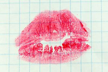 lips in sheet of paper