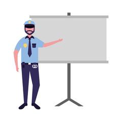 office police man board
