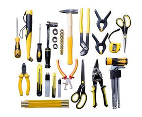 Many Yellow Repair Tools