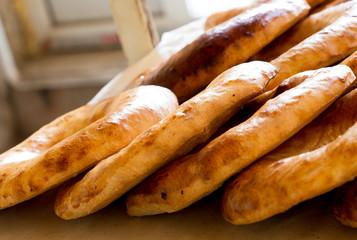 Deurstickers Bakkerij Uzbek flatbread