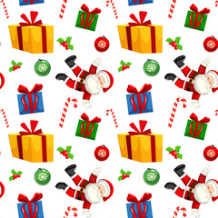 Christmas present seamless pattern