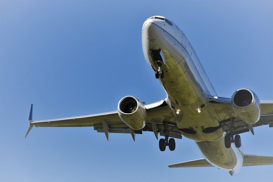 Boeing 737 MAX8 - Aircraft in a Blue Sky - Safety Concerns and Accidents. Business Practices.