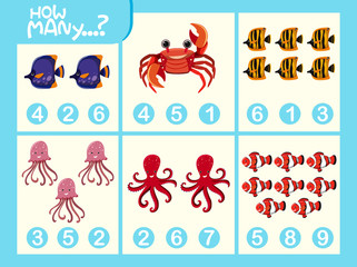 Matching picture number worksheet