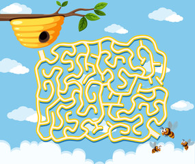 honey bee maze game template