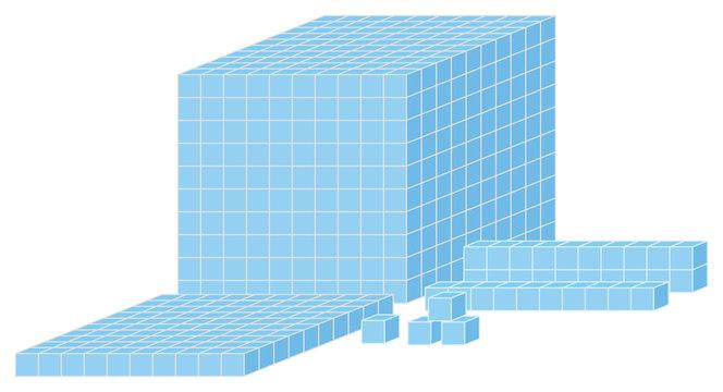 Math tool on white background