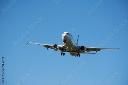 737 MAX 8 - Commercial Jet on Final Approach to an Airport