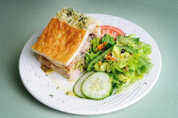 Fresh Deli Pie With Side Salad