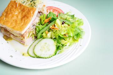 Fresh Deli Pie With Side Salad