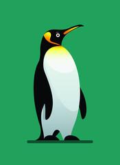 penguin winter animal flat style vector illustration