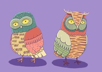 Cute owl character.