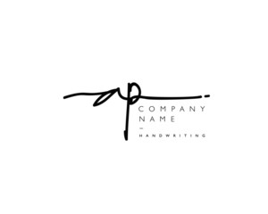 A P Initial handwriting logo