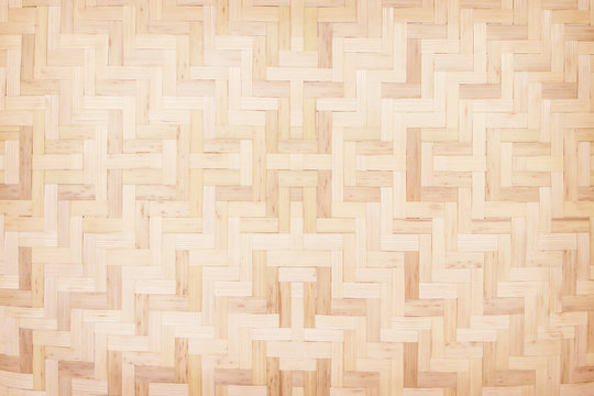 Traditional handcraft wood woven patterns on background