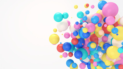 3d rendering picture of colorful balls.