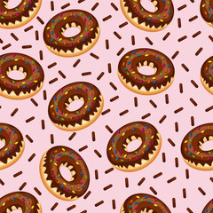 Sweet Snack Seamless Pattern Donut Doughnut Wallpaper Repeatable