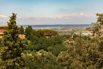 panoramic view of the landscape in toscane italy