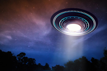 Photo sur Aluminium UFO ufo or alien spaceship