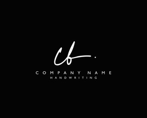 C B Initial handwriting logo