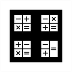 Calculator Icon, Calculator Keypad Sign