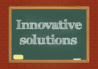 Innovative solutions chalkboard notice Vector illustration for design
