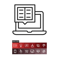 Ebook vector icon