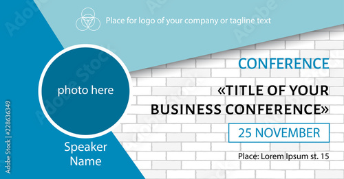 business conference template facebook event link banner design
