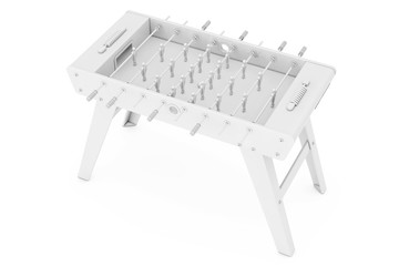 Soccer Table Football Game in Clay Style. 3d Rendering