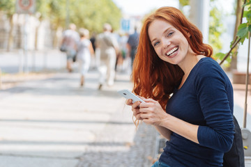 Pretty young woman with a happy smile