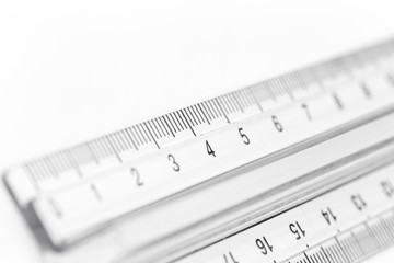 selective focus a part of the plastic precision measurement tool