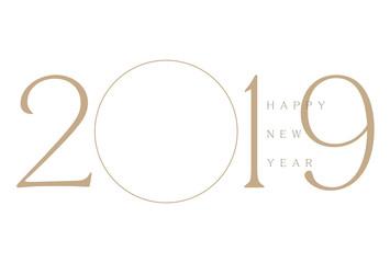 年賀状 2019 フォトフレーム ゴールド