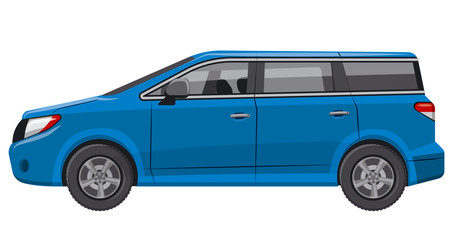 blue car minivan