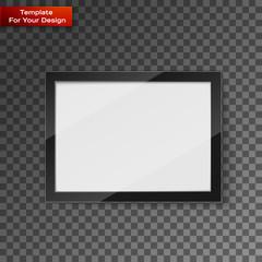 Digital frame on transparent background