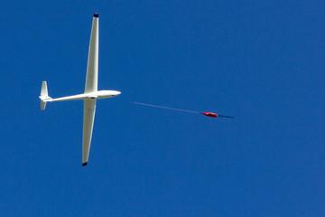 glider at winch start