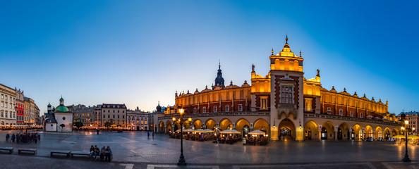 Krakow Cloth Hall by early blue hour