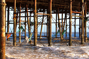 Debris Underneath a Dying Pier