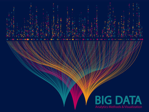 Big data visualization concept vector.