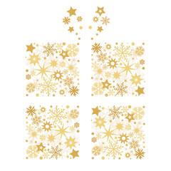 Weihnachtliche Dekoration Geschenk und Sterne