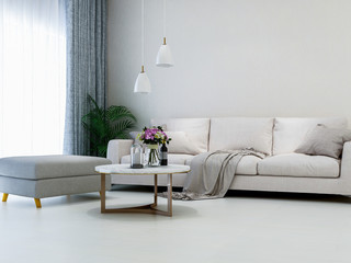Simple and clean living room design