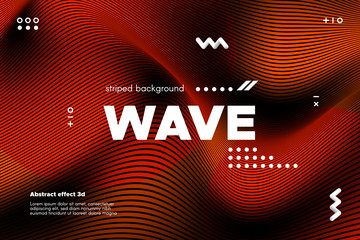 Abstract Wave Template with 3d Effect.