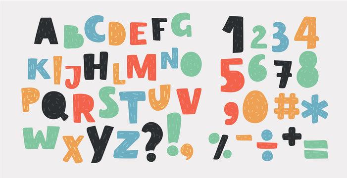 Bright alphabet set.