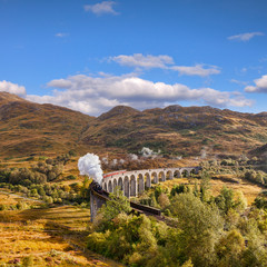 Glenfinnan Viaduct and the Jacobite steam train