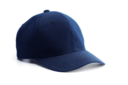 Dark blue cap isolated on white.