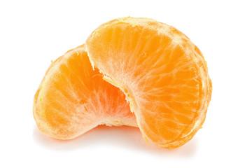 tangerine slices isolated