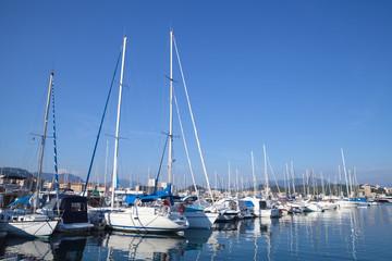 Sailing yachts and motor boats, Corsica