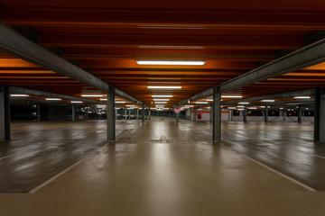 Underground parking in the city