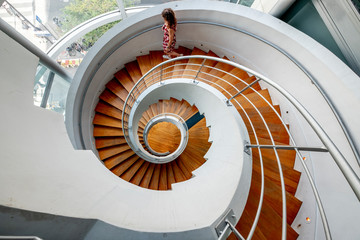 Photo sur Plexiglas Spirale Spiral staircases paris