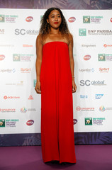 Naomi Osaka of Japan arrives in a Valentino dress for the singles draw ceremony of the WTA Tennis Finals in Singapore
