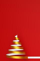 Weihnachtskarte zu Weihnachten mit Weihnachtsbaum