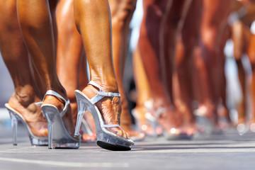 Beautiful woman's legs in high heels