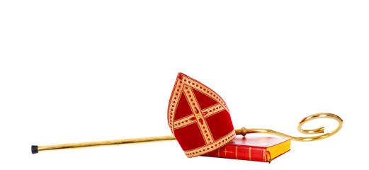 Mitre miter staff saint nicholas. Dutch sinterklaas